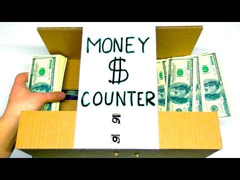 🤑 HOW TO MAKE MONEY COUNTER MACHINE from CARDBOARD   MAD HANDMADE
