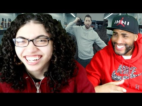 MY DAD REACTS TO Eminem - Godzilla Ft. Juice WRLD (Dir. By @_ColeBennett_) REACTION