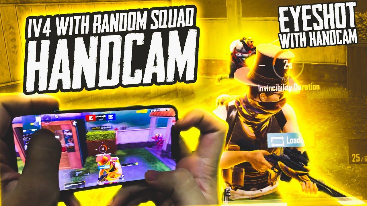 How to Perform Eyeshot! My Hand-cam | playing 1v4 with Random Squad | 47 khalifa Pubg Mobile
