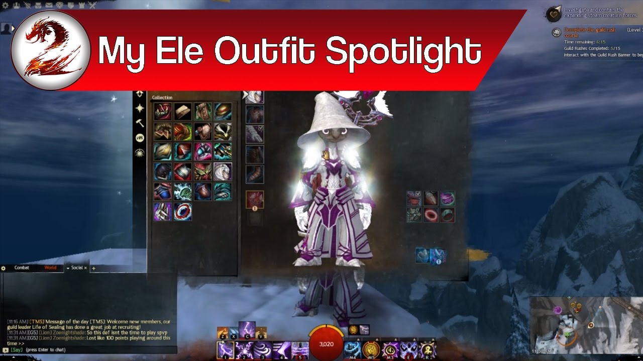 Guild Wars 2: Elementalist Fashion – My Best Elementalist Outfit Showcase  (Skins & Dyes Spotlight)