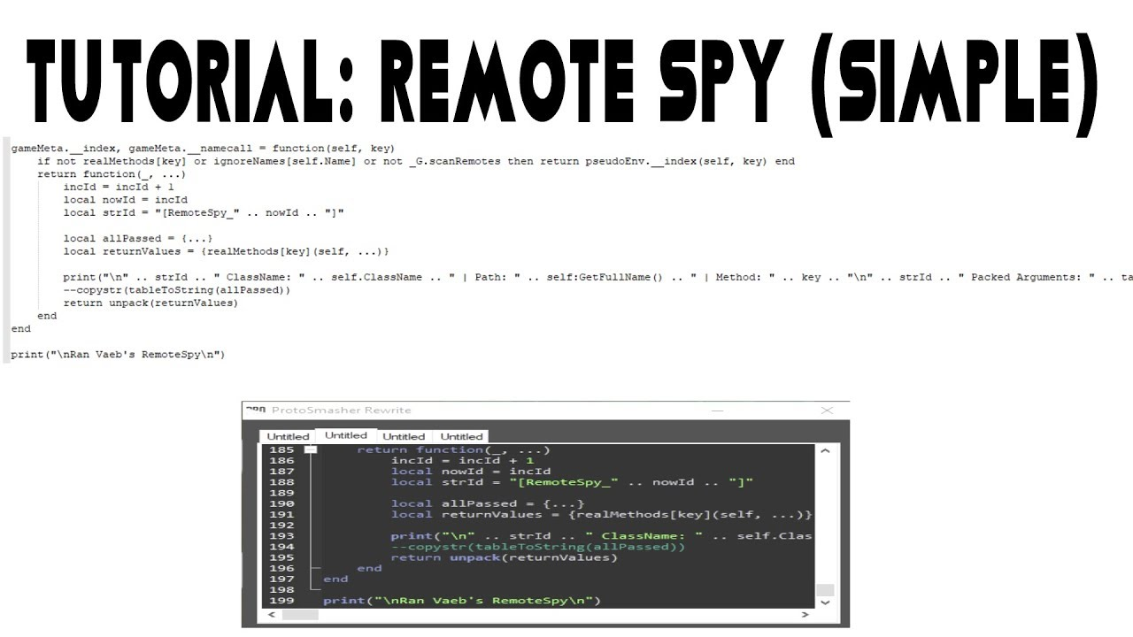 Tutorial: How to use Remote Spy to make FE Scripts