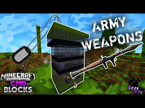 ✓ Military Weapons With Command Blocks   MCPE