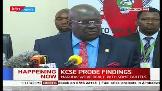 KNEC chair  Prof. George Magoha releases finding of the investigation on the withheld KCSE exams