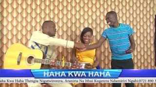 JOSE GATUTURA AT HAHA KWA HAHA SHOW WITH ROSEMARY KAREY NA KIMANI WAMAGUI.@GIKUYU TV