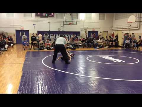 Guido Pigoni's 2nd match for Hampshire Middle School 1-25-17
