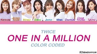 Twice (트와이스) - one in a million |sub. español + color coded| (han/rom/esp)