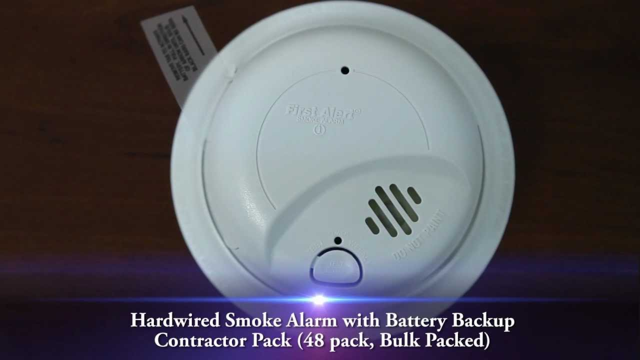 First Alert Hardwired Smoke Alarm with Battery Backup- Contractor ...