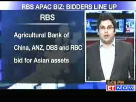 ANZ,DBS & RBC among bidders for RBS Asia equities