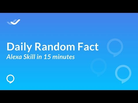 How to create a Random Daily Fact Amazon Alexa skill without coding?