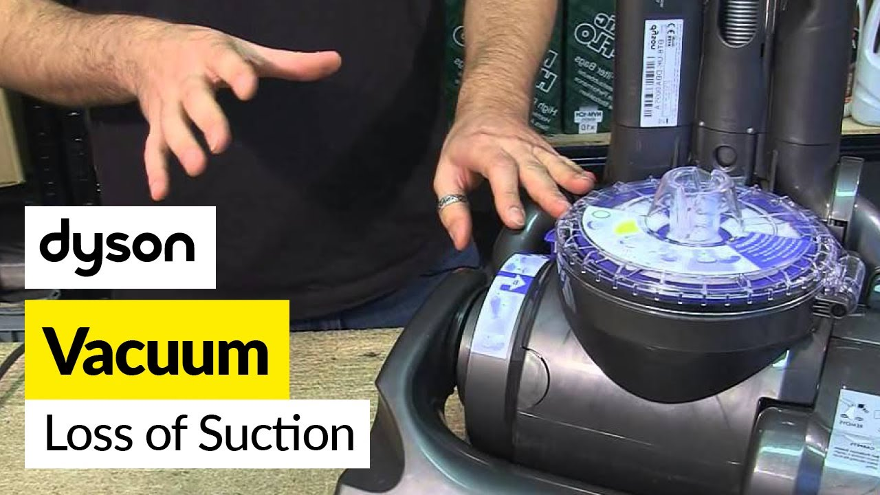 How to fix a loss of suction  Dyson DC33  YouTube