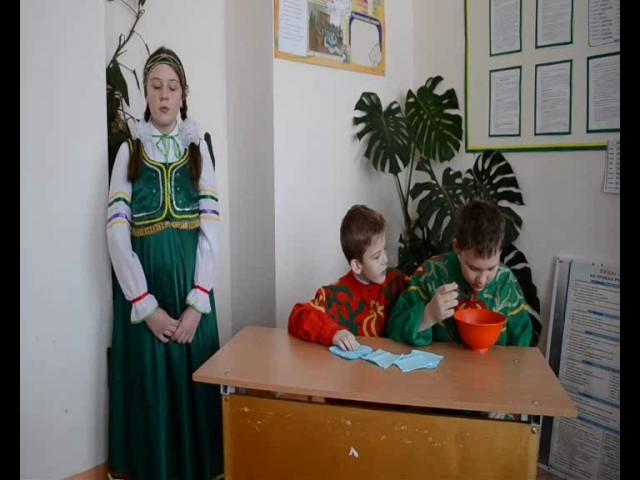 Изображение предпросмотра прочтения – «Учащиеся 6 класса» читают произведение «Демьянова уха» И.А.Крылова