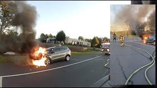 Engine 9-10 Car Fire Response / Helmet Cam