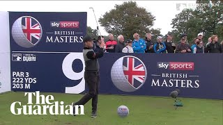 Eddie Pepperell's spectacular hole-in-one at the British Masters