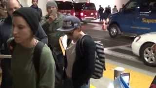 Kristen Stewart and Alicia Cargile leaving LAX Airport and cusing a lot
