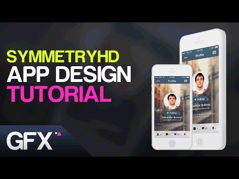 Social App UI/UX Design Tutorial in Adobe Photoshop (Graphic Design Tutorials)