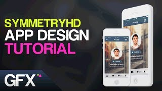 Social App UI/UX Design Tutorial in Adobe Photoshop (Graphic Design Tutorials)