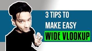 3 Tips to make easy Vlookup Formula in Hindi