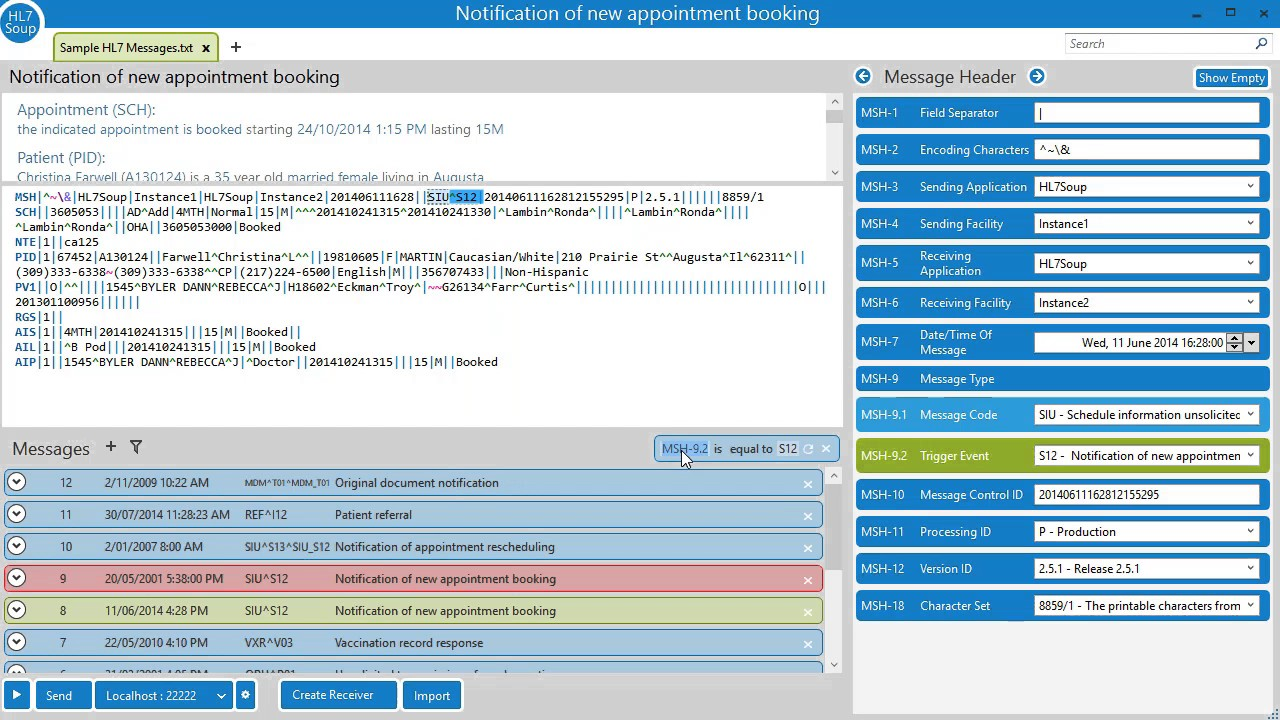 HL7 Tutorial: Add Patient to Database with Activities