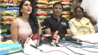 Actress Regina Inaugurates Shopping Mall in Adilabad