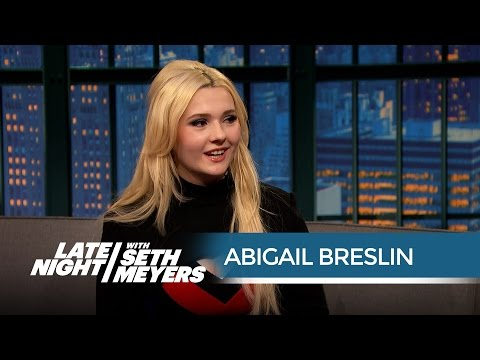 Abigail Breslin on Working with Arnold Schwarzenegger in Maggie  Late Night with Seth Meyers