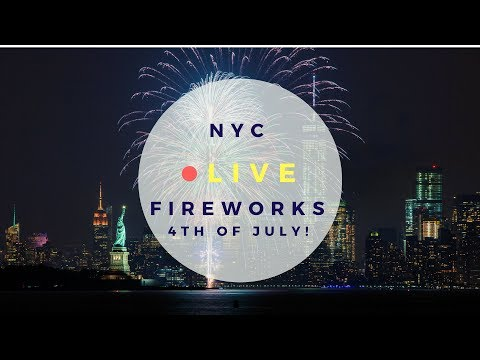 🔴 NYC FIREWORKS LIVE 4TH OF JULY - THE BEST VIEW ON MANHATTAN FROM BROOKLYN - INDEPENDENCE DAY