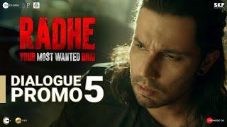 Radhe: Dialogue Promo 5 | Salman Khan | Randeep Hooda | Prabhu Deva | 13th May