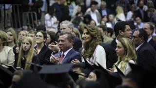 صور وفيديو فرحة غامرة للعائلة المالكة الأردنية في حفل تخرج ولي العهد حسين بن عبد الله الثاني