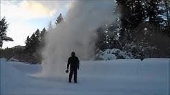 Throwing Water In The Air 31 Below Zero Seeley Lake Montana 2/20/2018