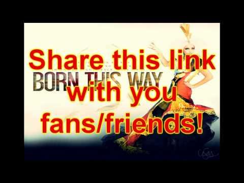 Lady Gaga - Born This Way + Download MP3 + Lyrics
