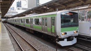 山手線外回り(渋谷・新宿方面行き)大崎発車。 NewDaysのおにぎりや芳...