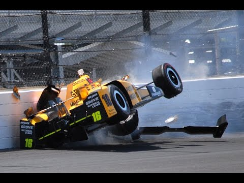2016 Indy 500 All Crashes Compilation