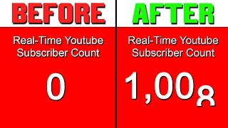 How To Get Your First 1000 Subscribers FAST! (Watch Until The End)