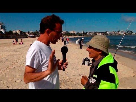 Concurso de pesca en Playa Honda de Montevideo