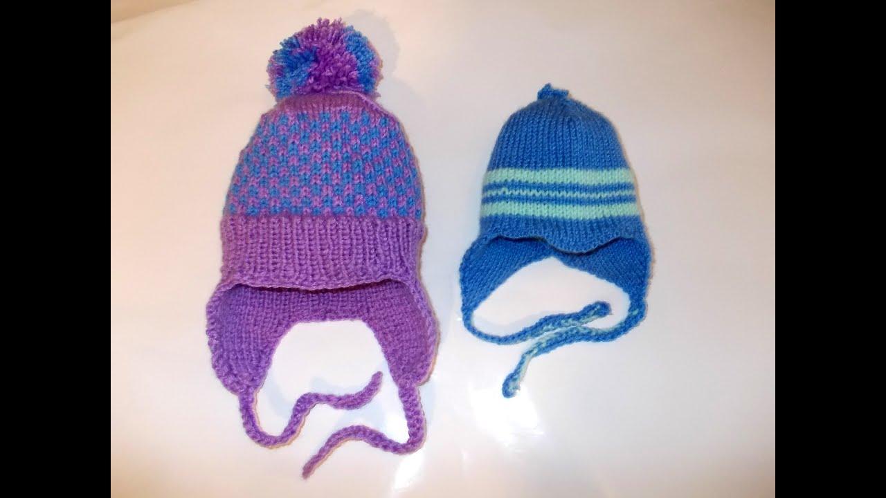 двойная зимняя шапка для девочки схема