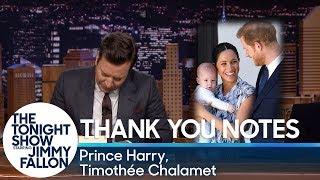 Thank You Notes: Prince Harry, Timothée Chalamet