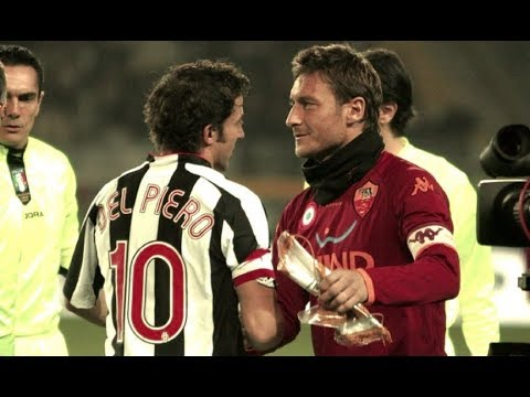 Del Piero Vs Totti 2001 Juventus X Roma Youtube