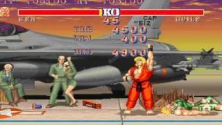 Street Fighter II M5 - GamePlay With Ken - 1 Coin [Part 1/2]