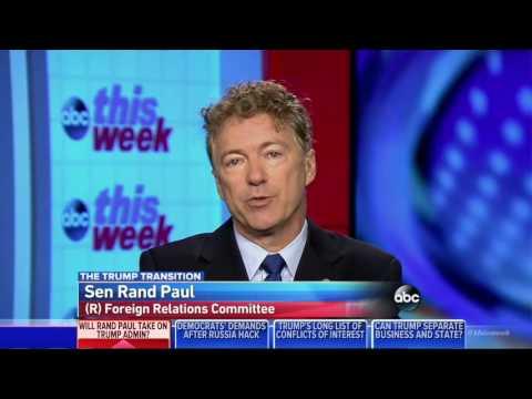 Rand Paul Will Not Let Donald Trump's John Bolton Near the Secretary of State | Rex Tillerson