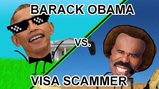 Barack Obama Pisses Off A Visa Gift Card Scammer! - The Hoax Hotel