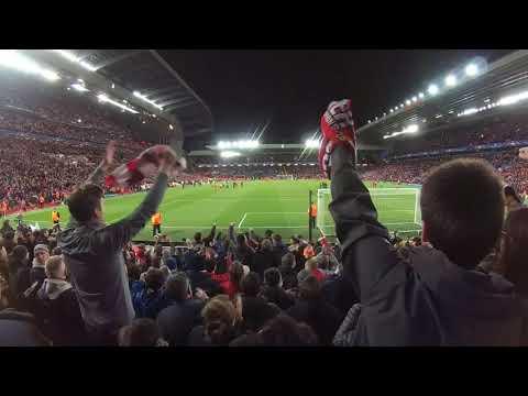 Allez Allez Allez on The Kop stand [ #UCL 2017-18 Liverpool 3-0 Man City] #ต้นทางฟุตบอล