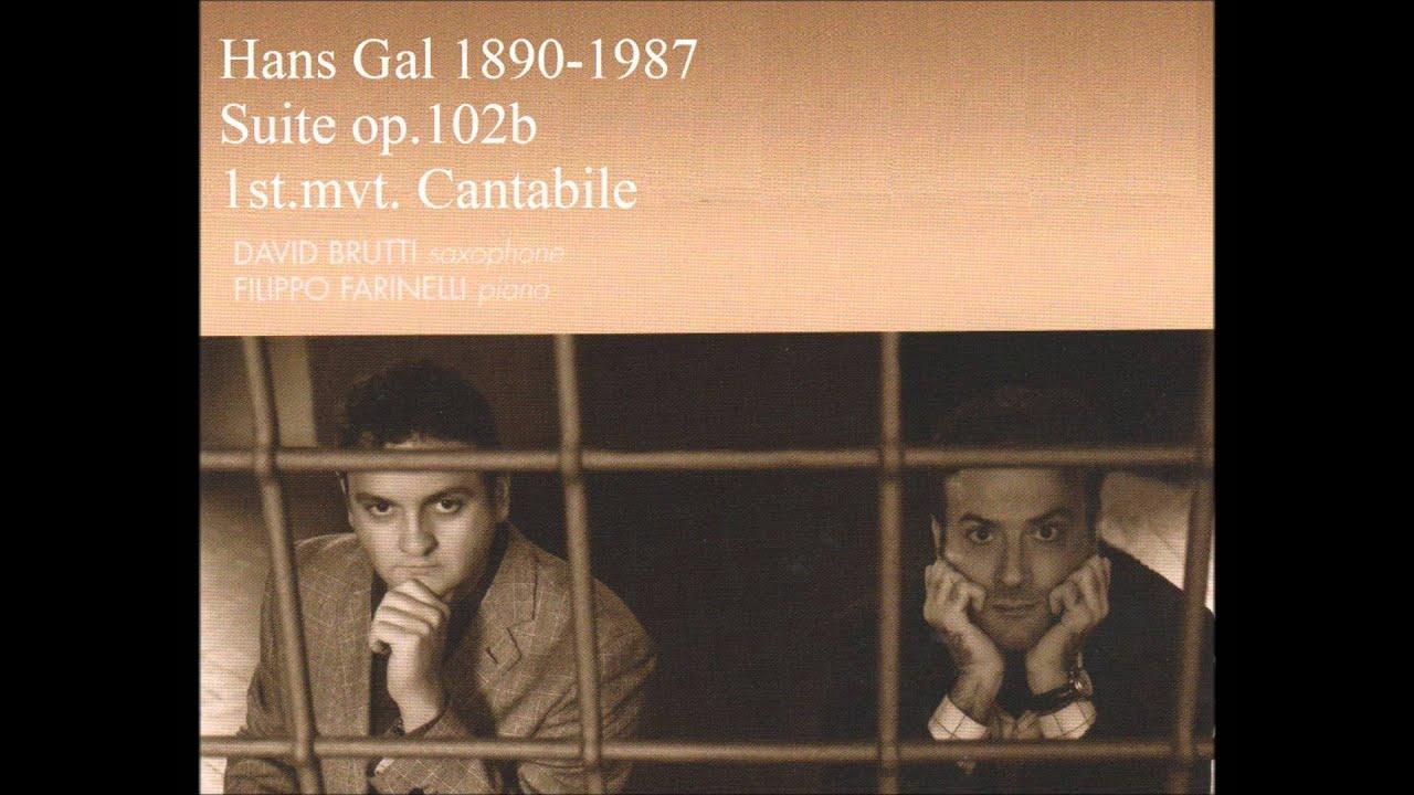 ハンス・ガル 組曲op 102b第1曲...
