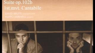 ハンス・ガル 組曲op 102b第1曲カンタービレ ブルッティ(as)ファリネッリ(p)