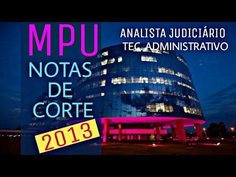 CONCURSO MPU 2018 - NOTAS DE CORTE TÉCNICO E ANALISTA POR ESTADO