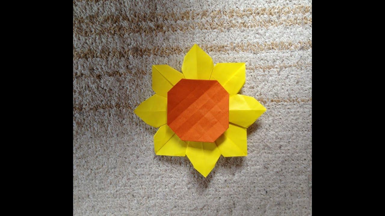 折り紙の ひまわりの折り紙の折り方 : 折り紙 ひまわり 折り方 作り方 ...