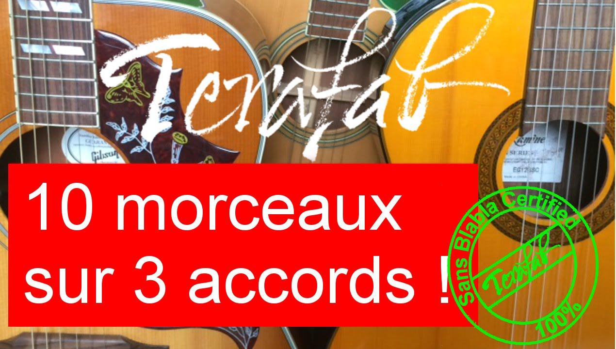 [Tuto guitare facile Terafab] 10 chansons françaises sur E ...