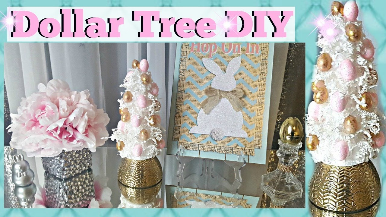 Dollar Tree Diy Easter 2017 Easter Egg Tree Easy Home Decor Craft Youtube