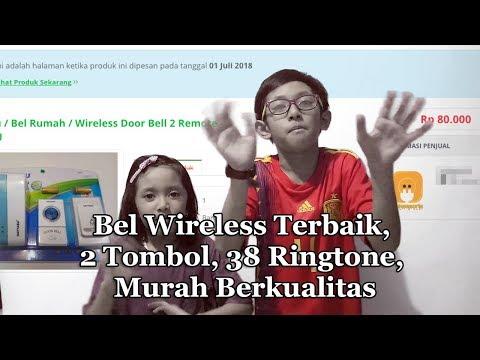 Bel Wireless Terbaik, 2 Remote, 38 Ringtone, Murah Berkualitas