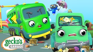Trash Everywhere!!|Gecko's Garage|Funny Cartoon For Kids|Learning Videos For Toddlers