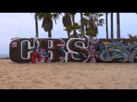 DYTCH66  KYM40  DJ SEZ  GRAFFITI ART AT VENICE BEACH  CBS