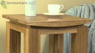 Tokyo Solid Oak Lamp Table From Oak Furniture Land